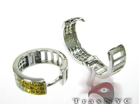 Hip Hop Jewelry - Multi Color Hoop Earrings Stone