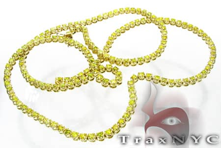 Hip Hop Jewelry - Canary CRC Chain 32 Inches, 5mm, 73 Grams Diamond