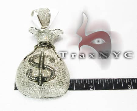 Hip Hop Jewelry - Money Bag Pendant Metal