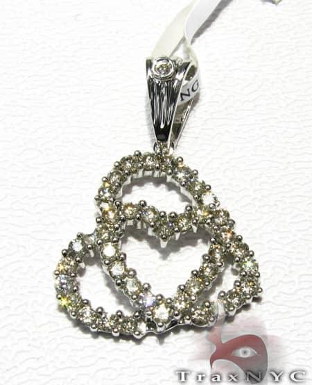 Heart In a Heart Pendant Stone