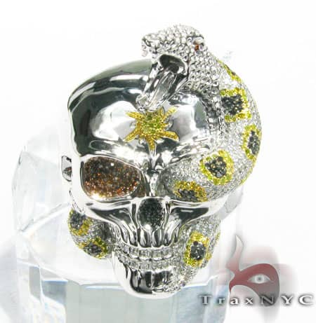 Skull Ring Mens Diamond Rings