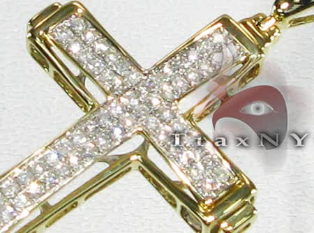 Two Row Mini Pave Cross Diamond