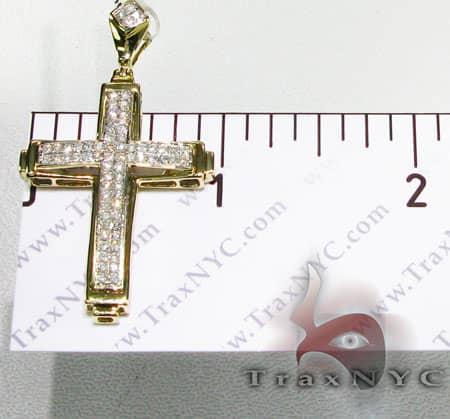 Two Row Mini Pave Cross Diamond