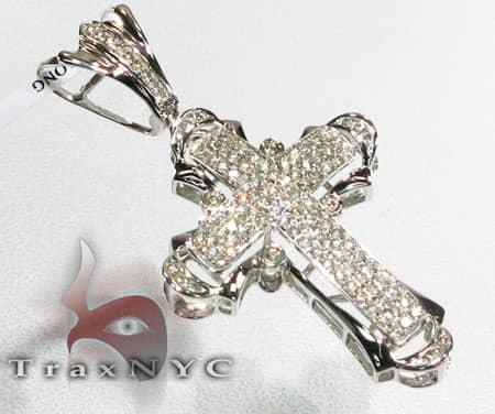 3 Row Mini Pave Cross Diamond