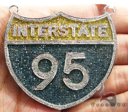 I-95 (Interstate) Pendant Metal