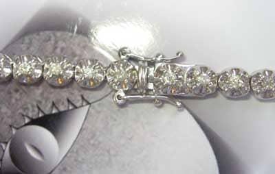 14K White Gold & Diamond PR Chain 30 Inches 93 Grams Diamond