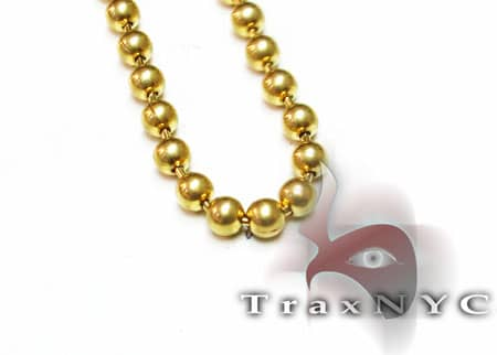 26 Inch, 4mm, 30.8 Grams Bead Chain 4mm Gold