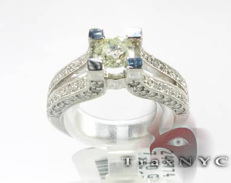 Double Band Solitaire Ring Engagement