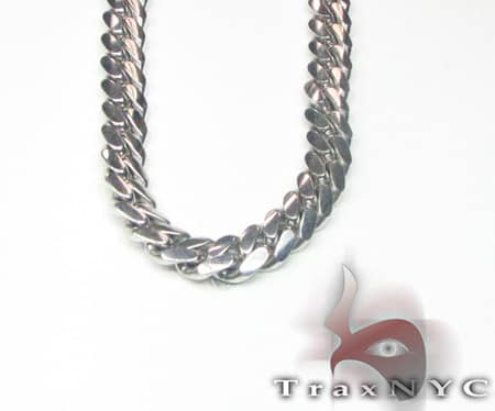 Miami Link Chain 28 Inches, 10mm, 198.40 Grams Gold