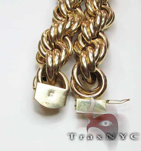 Gold Rope XL 42 Inches, 27mm, 238.70 Grams Gold