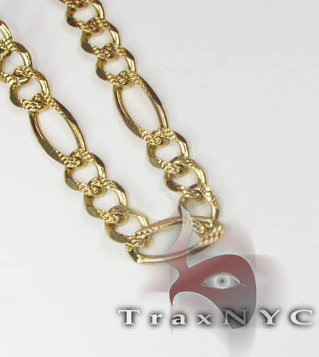 Figaro Chain 26 Inches, 4.5mm, 54.9 Grams Gold