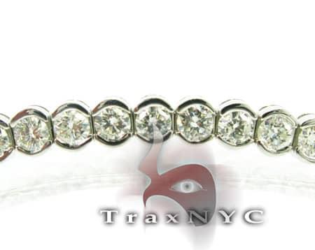 Ladies Solitaire Bezel Bracelet Diamond