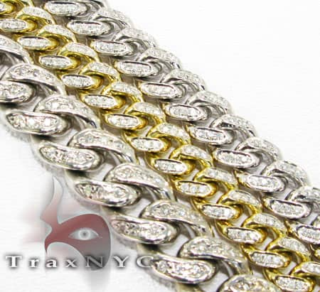 Diamond Miami Link Chain 36 Inches, 8.5mm, 183 Grams Diamond