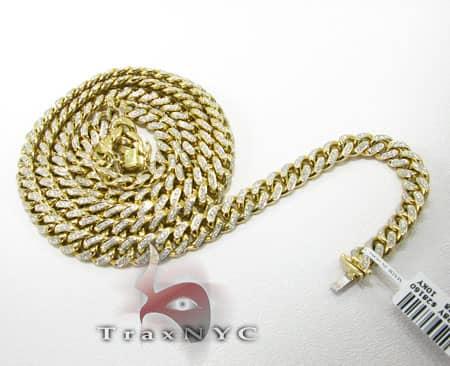 Diamond Miami Link Chain 36 Inches, 8.5mm, 183 Grams Diamond