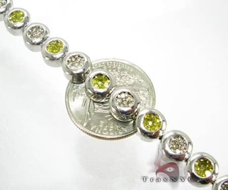 Canary & White Destiny Chain 26 Inches, 8mm, 121.50 Grams Diamond