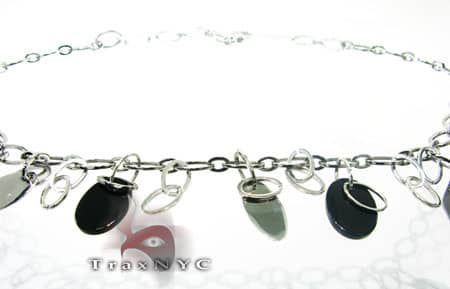 Black Onyx Stainless Steel Necklace Stainless Steel Necklace