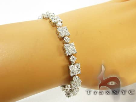 Prong Connection Bracelet Diamond