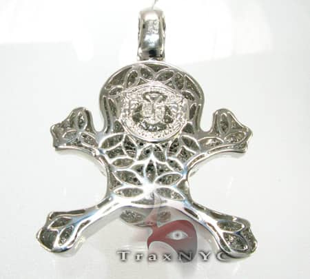 Cross Bone Skull Pendant Metal