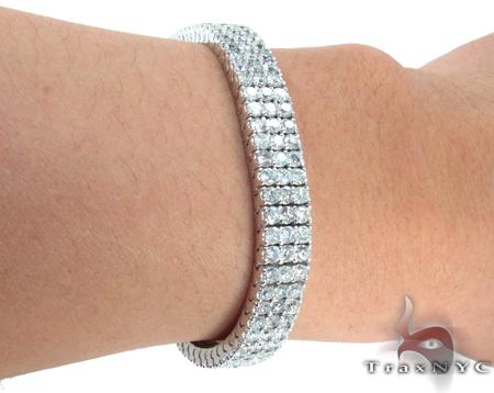 3 Row Paulie Bracelet Diamond