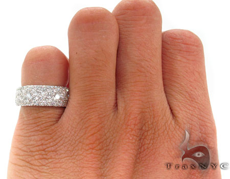3 Row Pave Diamond Ring Stone