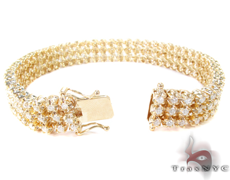 3 Row Toni Bracelet Diamond