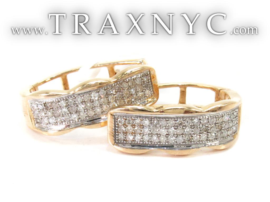 Gold Diamond Hoop Earrings Gold diamond hoop earrings Yellow Diamond Stud Earrings