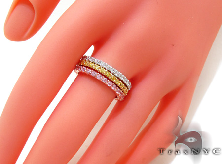 3 Tone CZ Ring 21324 Anniversary/Fashion