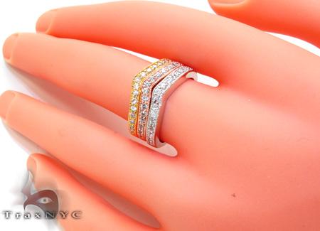 3 Tone Multi Color CZ Ring 21326 Anniversary/Fashion