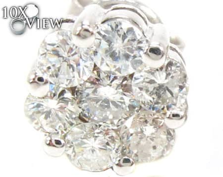 VS2 Round Cut Stud Earring Style