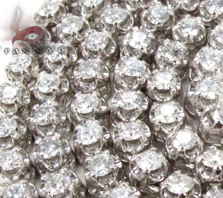 Polar Iced Diamond Chain 30 Inches 4mm 44.4 Grams Diamond