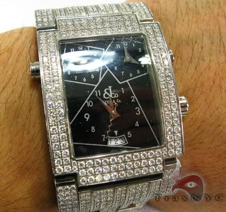 Mens JACOB & Co. Black Dial Diamond Watch Hip Hop Diamond Watches