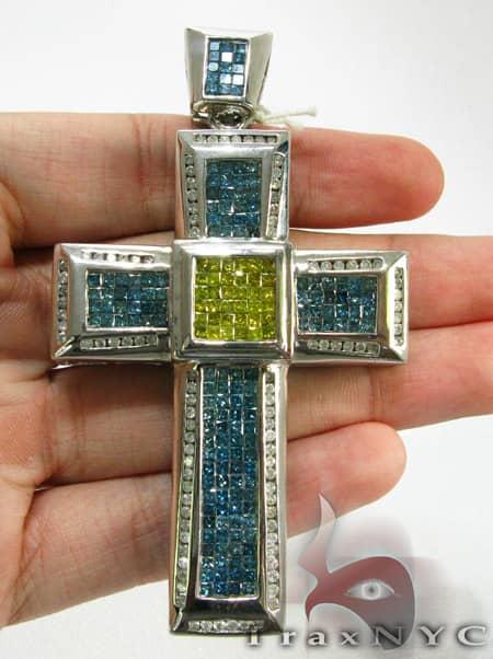 Ocean Blue & Canary Cross Diamond