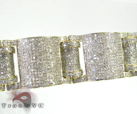 Yellow Gold Pave Jumbo Bracelet Diamond