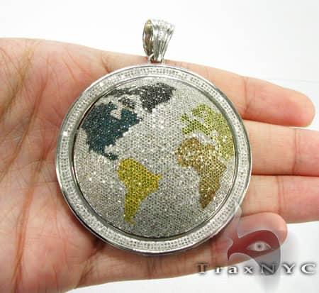 Hip Hop Jewelry - World Round Cut Pendant Metal