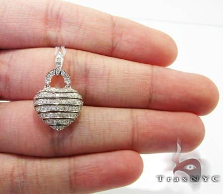 Channel Basket Heart Pendant Stone