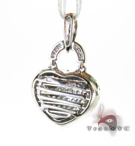 Channel Basket Heart Pendant Stone