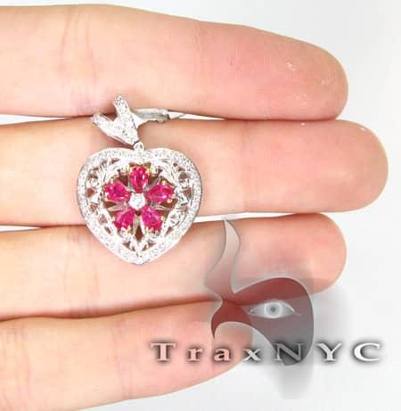 Light Ruby Pear Pendant Stone