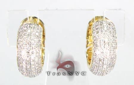 Ladies Bubble Earrings Stone