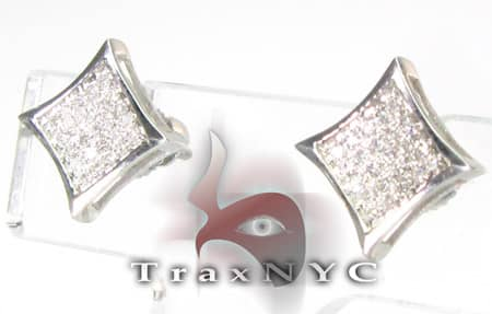 Mini Pave SQ Earrings Stone