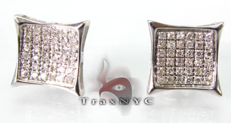 Pave SQ Earrings 2 Stone