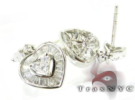 Baguette Heart Earrings Stone