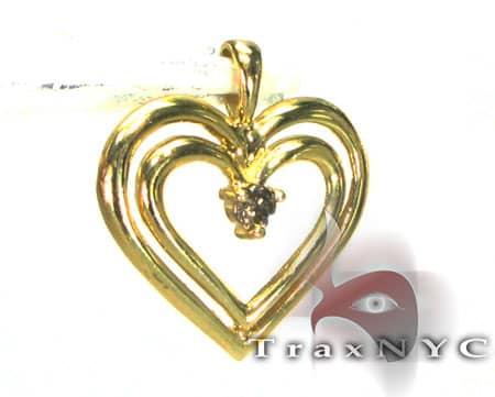 Outline Heart Charm Metal