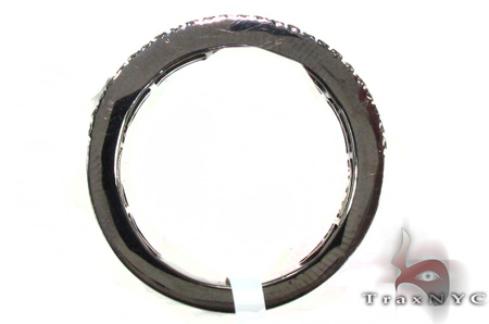 4 Row Black Diamond Ring 20436 Stone