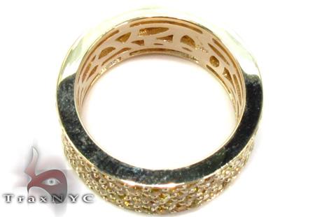 4 Row Canary Color Diamond Band Stone