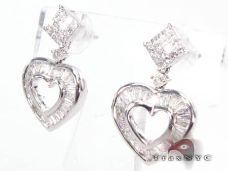 Heart Earrings 8 Stone