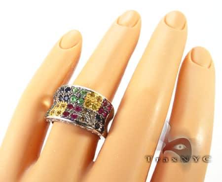 Multi colored Gemstones Ring Anniversary/Fashion