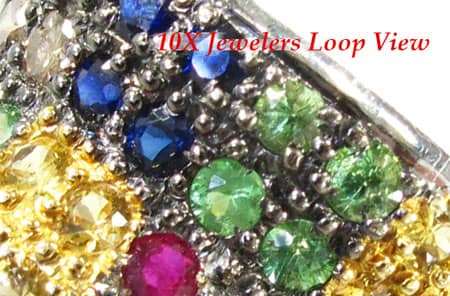 Multi colored Gemstones Ring Anniversary/Fashion