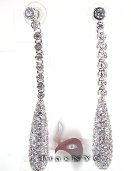 Pear Earrings Stone