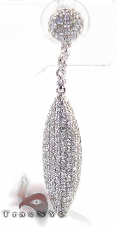 Pave Leaf Earrings Stone
