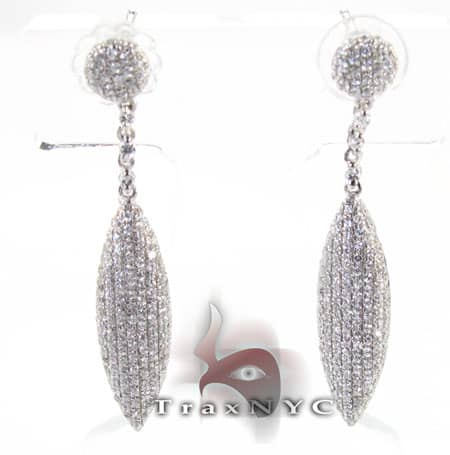 Pave Leaf Earrings Stone